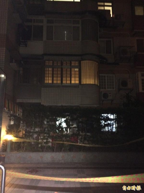 台北市大直樂群二路一處集合式社區住宅發生女子墜樓事件。(記者劉慶侯攝)