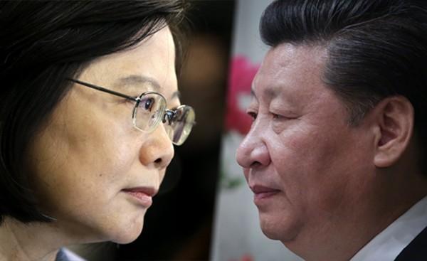 根據國民黨立委公布的民調,台灣人對於未來在同條件下的蔡習會支持度,明顯高過馬習會。(本報合成)