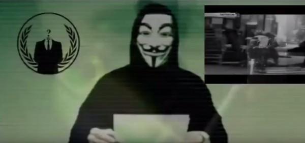 駭客組織「匿名者」向IS宣戰。(圖取自YouTube)