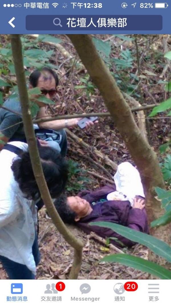 失蹤7天的阿嬤,今天在花壇山區找到了。(圖擷取自花壇人俱樂部社群網站)
