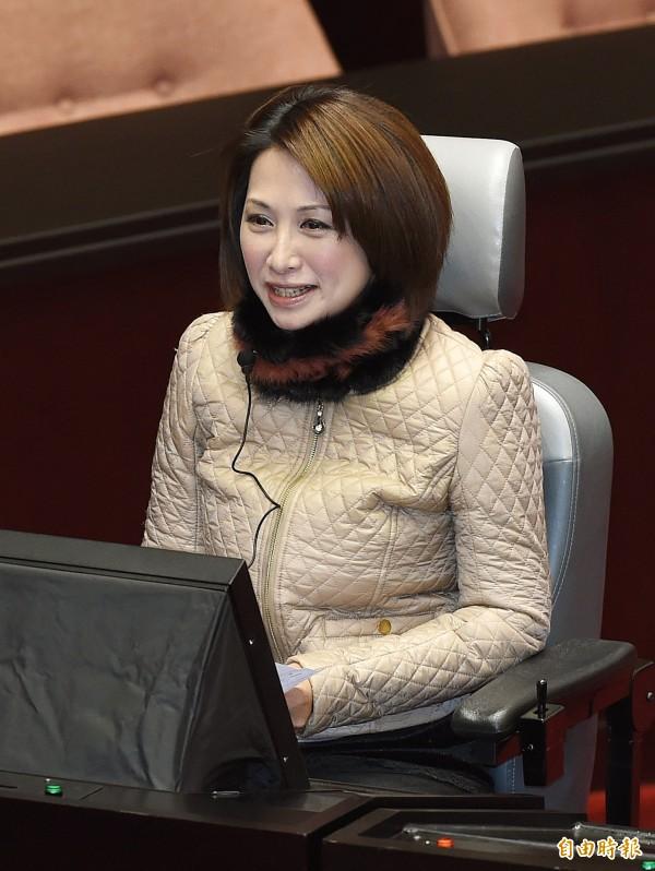 立委楊玉欣批評國民黨不分區「可笑至極」。(記者廖振輝攝)
