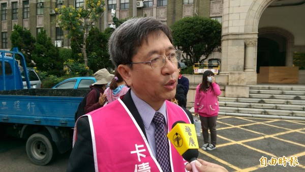民間司改會董事長林永頌律師痛批法務部反改革「很可恥、可笑」。(記者項程鎮攝)