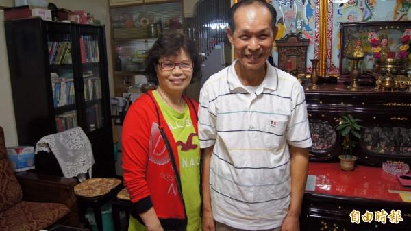 結婚51年的朱孝成、朱王阿娘夫妻也是今年度金鑽婚楷模。(記者張安蕎攝)