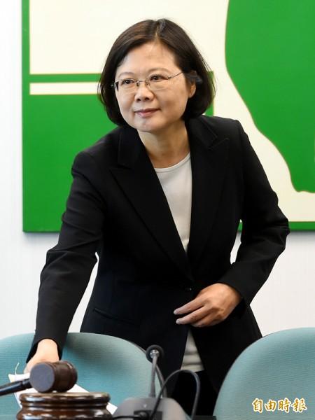 人蔡英文在今年七月底即提出海洋政策,強調「打開大門」是使台灣成為海洋國家的起點。(資料照,記者張嘉明攝)