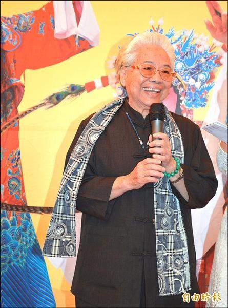 高齡80歲的「人間國寶」潘玉嬌。(記者陳建志攝)