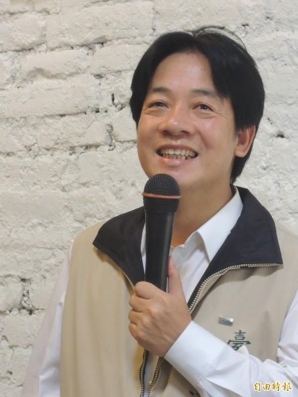 台南市長賴清德對台南選情樂觀審慎。(記者洪瑞琴攝)