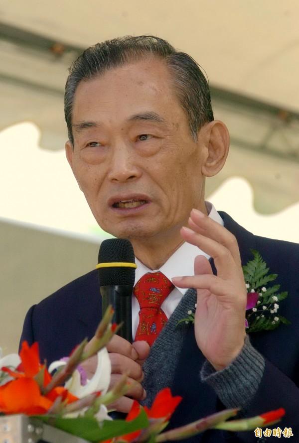 自由時報創辦人林榮三今天下午逝世,基隆市長林右昌表示惋惜。(記者廖耀東攝)