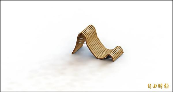 可變化型體之椅子。(記者湯佳玲攝)