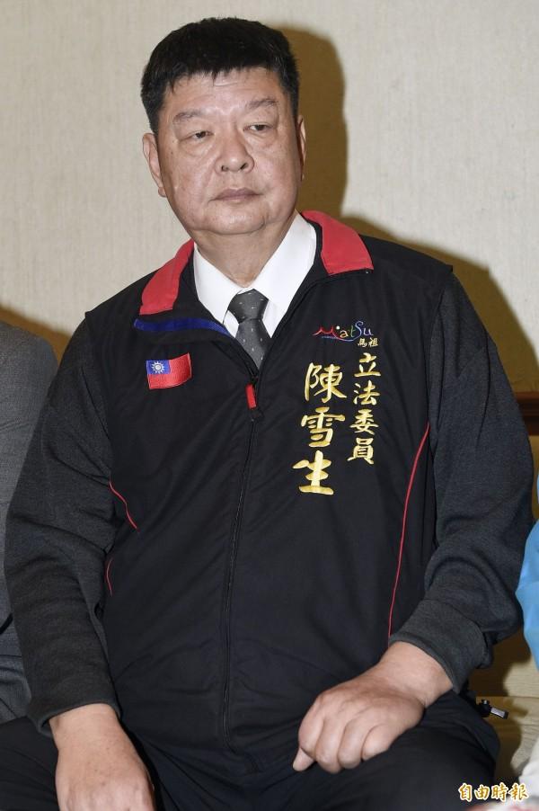 媒體報導,國民黨立委陳雪生為反對中客限額減少一事,甚至說出「反正我們也很少出門」等話。(資料照,記者陳志曲攝)