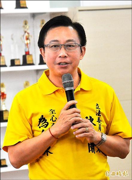 台東縣區域立委選舉,國民黨立委候選人陳建閣。(記者黃明堂攝)