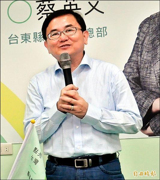 台東縣區域立委選舉,民進黨立委候選人劉櫂豪。(記者黃明堂攝)