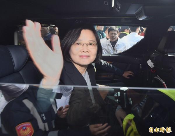 民進黨總統候選人蔡英文。(資料照,記者方賓照攝)