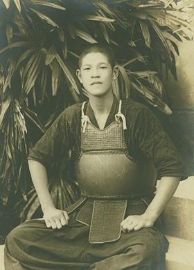 竹劍少年李登輝。(圖擷取自維基百科網路)