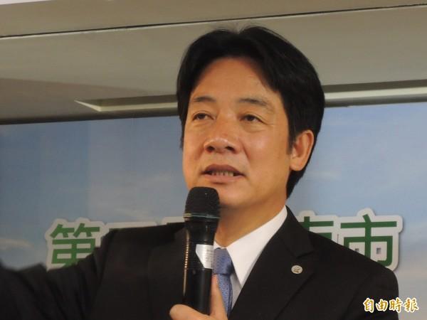 台南是目前唯一沒有高鐵直達車的直轄市,市長賴清德籲請高鐵提供更多元化班次。(記者洪瑞琴攝)