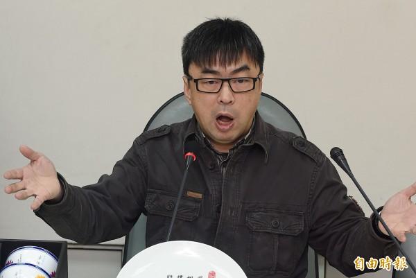 立法院長王金平今日出席朱王競總成立大會,致詞時指出國會改革是必要的。而綠委段宜康在聽到後,便用「哈哈哈!」來表示自己的心情。(資料照,記者廖振輝攝)