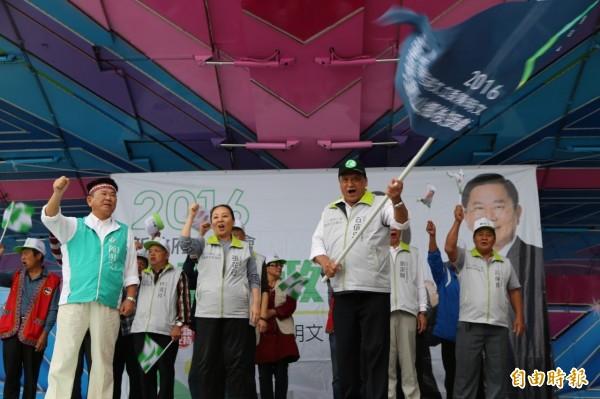 蔡英文、陳明文聯合競選總部阿里山後援會成立。(記者蔡宗勳攝)
