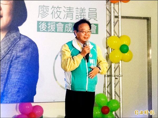民進黨立委候選人陳永福認為,選舉應看能力,而非政黨顏色。(記者張安蕎攝)