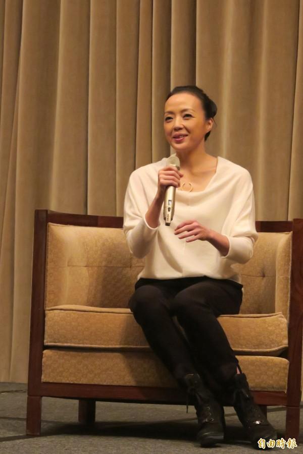 國際知名舞蹈家許芳宜擔任長榮航空星空聯盟代言人。(記者甘芝萁攝)