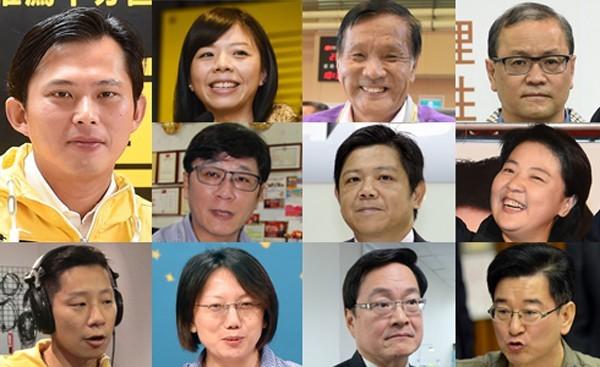 民進黨中常會9日通過非民進黨立委候選人支持名單,共有11人。(本報合成)