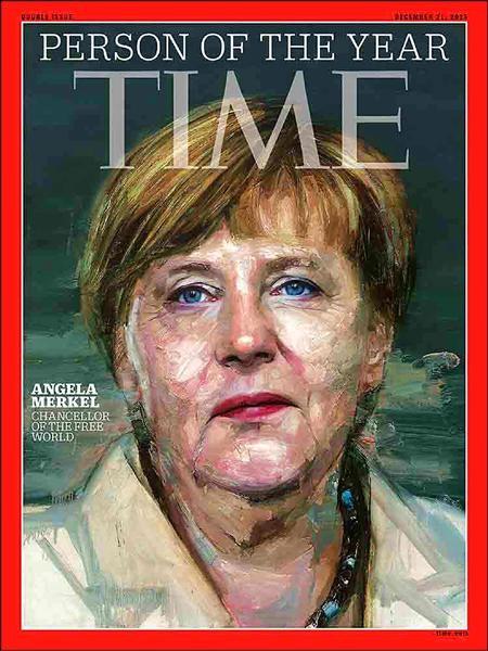 德國總理梅克爾(Angela Merkel)獲選為美國時代雜誌2015年年度風雲人物。(時代雜誌)