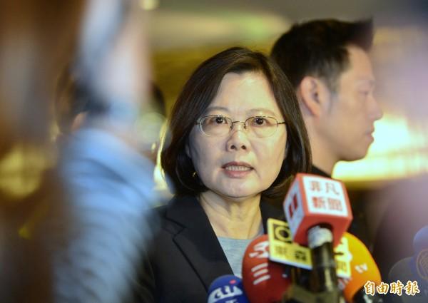 蔡英文獲《金融時報》評選為2015年21位女性代表之一。(資料照,王藝松攝)