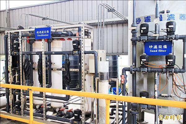 「福田水資源回收中心」是台中市第一座再生水廠,終極目標供應十三萬噸再生水。(資料照,記者蘇金鳳攝)