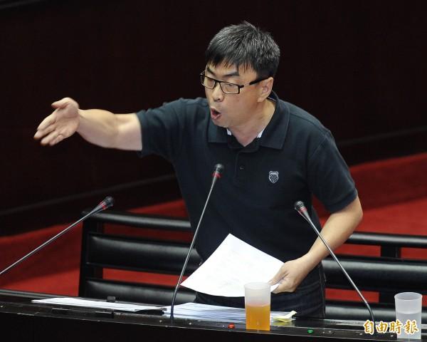 民進黨立委段宜康近來連爆「朱家企業」故事。(資料照,記者廖振輝攝)