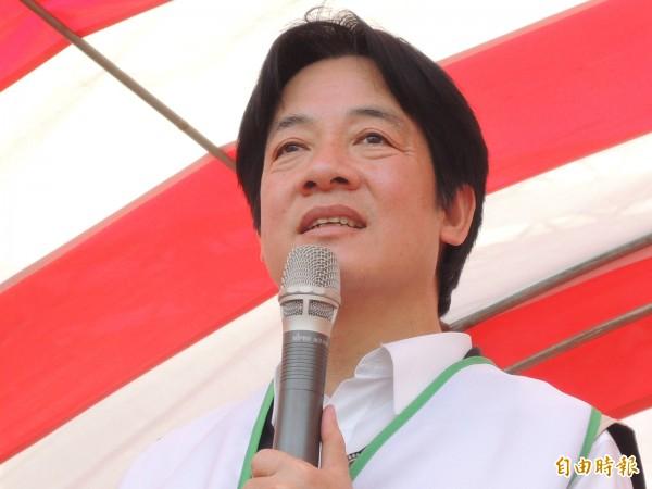 台南市長賴清德支持「再生水資源發展條例」。(記者洪瑞琴攝)