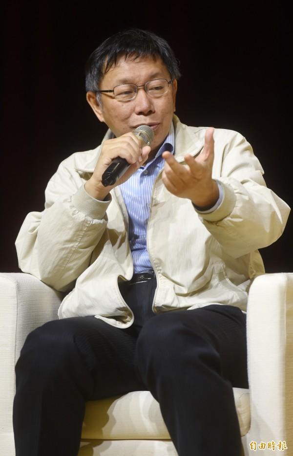 柯文哲上任將滿1年,推出影片「柯文哲,反省」。(記者簡榮豐攝)
