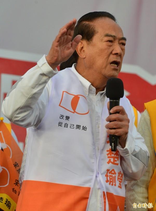 親民黨總統候選人宋楚瑜認為,國家的最大問題,在於「政府機能完全脫序」。(資料照,記者王藝菘攝)