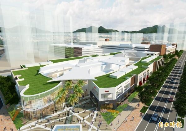 日本三井不動產集團在台灣投資的「MITSUI OUTLET PARK林口」,將於明年1月27日開幕,將有220個品牌進駐。(記者郭顏慧攝)