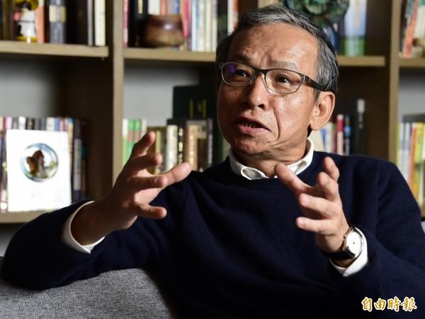 導演吳念真昨日錄製宣傳影片力挺洪慈庸,他更表示「我好希望有這樣的女兒」。(資料照,記者潘少棠攝)