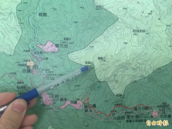 太魯閣境內的海鼠山,為過去日治時期的軍事重地,緊連一旁跑馬場,山下皆是日軍營舍,更是昔日戰馬的訓練用地。(記者王峻祺攝)
