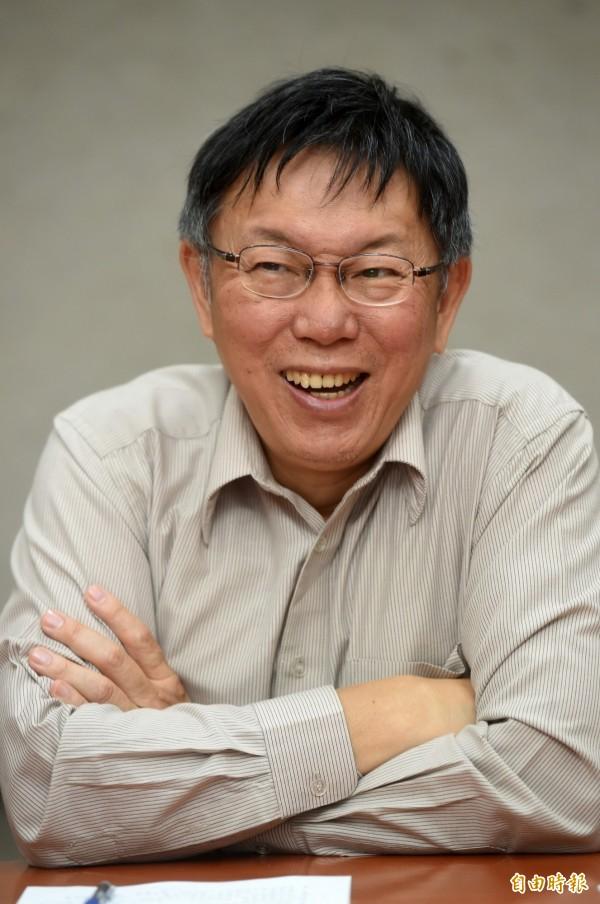 台北市長柯文哲被泛藍市議員痛批「作秀過頭」。(資料照,記者簡榮豐攝)