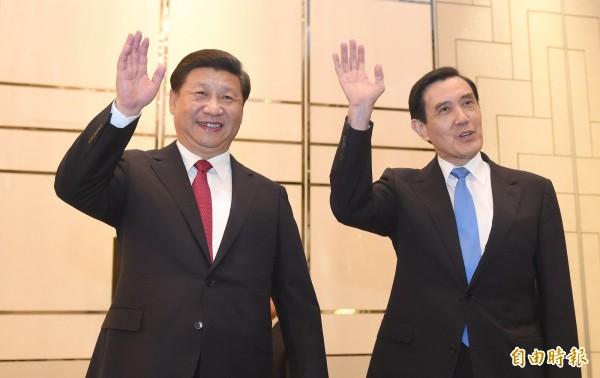 總統馬英九在明年520卸任前完成與中國國家主席習近平的「馬習會」,傳出他計畫在卸任後繼續以「卸任元首」身分赴中國再次與習近平會晤。(資料照,特派記者劉信德新加坡攝)