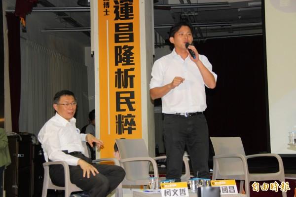 台北市長柯文哲過去與黃國昌曾一起暢談對台灣新政治的展望。(資料照,記者林欣漢攝)