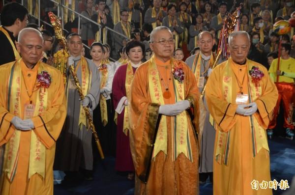 混元禪師擔任祭祖大典主席。(記者鄭淑婷攝)