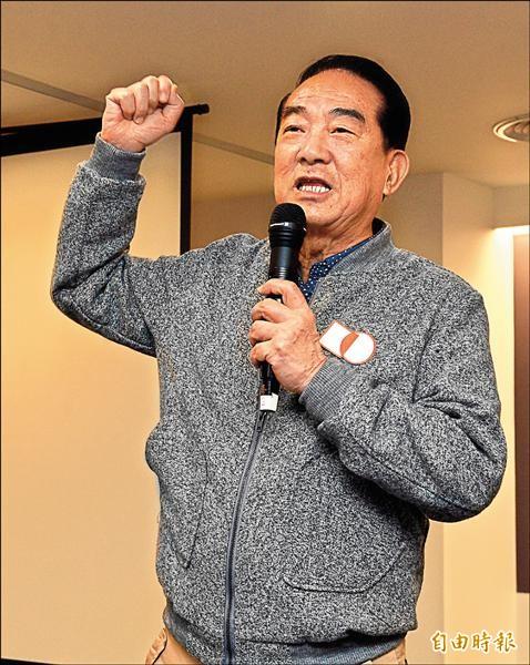 親民黨總統候選人宋楚瑜昨日出席「跨年宋就好」競選歌曲預告發布會,並就各項提問進行答覆。(記者叢昌瑾攝)