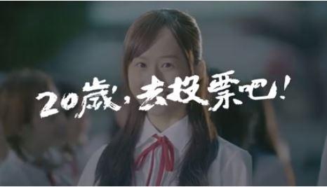 藍綠廣告風格迥異。(圖片擷取自蔡英文 Tsai Ing-wen臉書)