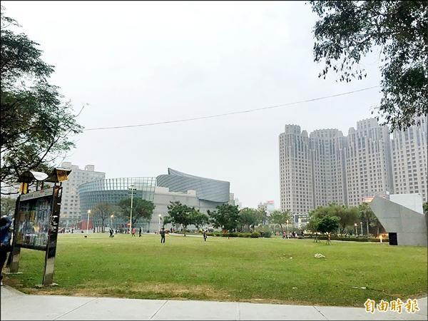 桃園市立圖書館將落腳於桃園市展演中心旁。(記者林近攝)