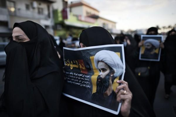巴林繼沙烏地阿拉伯之後跟伊朗斷交,然而巴林3日街上有許多人為被處決的什葉派知名教士尼姆(Nimr al-Nimr)抗議。(法新社)
