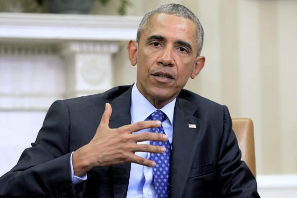 歐巴馬譴責北韓行為是「威脅地區及國際社會的惡劣行徑」,強調日後將採取一切措施保護日本等同盟國安全。(歐新社)