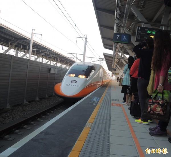 高鐵今年可望再增加南港站。(資料照,記者廖淑玲攝)