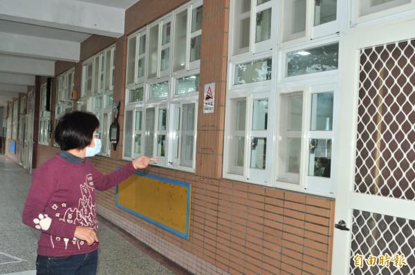 花蓮台泥發生火警,復興國小緊閉門窗、開中央空調,主任說,她在學校多年第一次遇到這種狀況!(記者花孟璟攝)