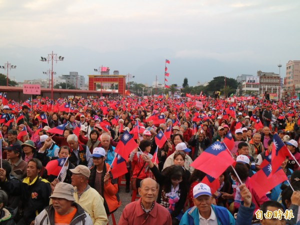 國民黨花蓮縣黨部今在花蓮市六期重劃區舉行「守護花蓮、珍愛家庭」造勢大會。(記者王錦義攝)