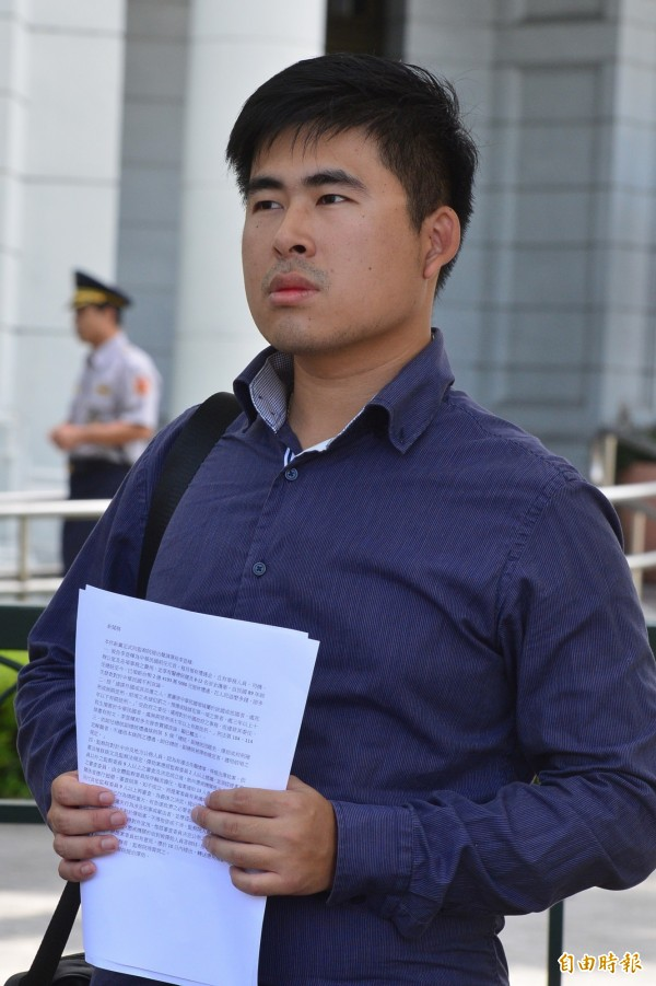 王炳忠是新黨立委候選人,過去因為反對反服貿而嶄露頭角。(資料照,記者王藝菘攝)