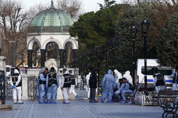伊斯坦堡驚傳爆炸,有10名人數死亡,15名受傷,疑似對德國的恐怖攻擊,但尚未得到證實。(路透)