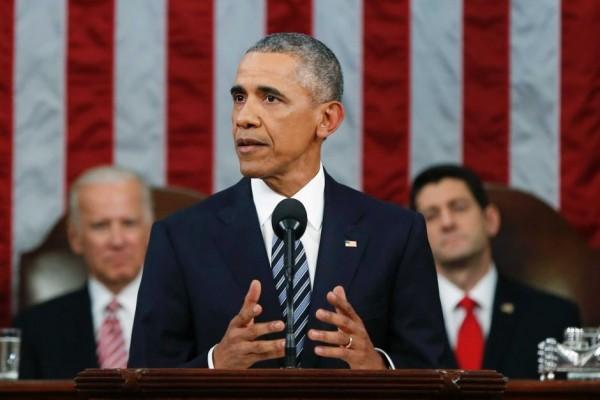 歐巴馬於美國時間12日晚間發表任內最後一次國情咨文演說。(路透社)