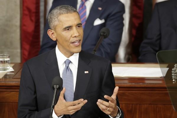 歐巴馬12日發表任內最後一次國情咨文,與過去7年國情咨文的最大差別在於歐巴馬不再提出具體政策,而是提出高遠理。(美聯社)