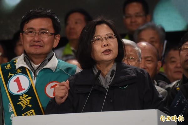 民進黨總統候選人蔡英文。(資料照,記者廖耀東攝)